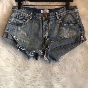 One x One Teaspoon Bandits Shorts Size 29